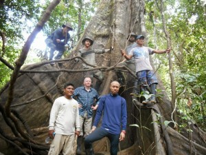 The Ayahuasca Test pilots with guides in the Amazon rain forest.