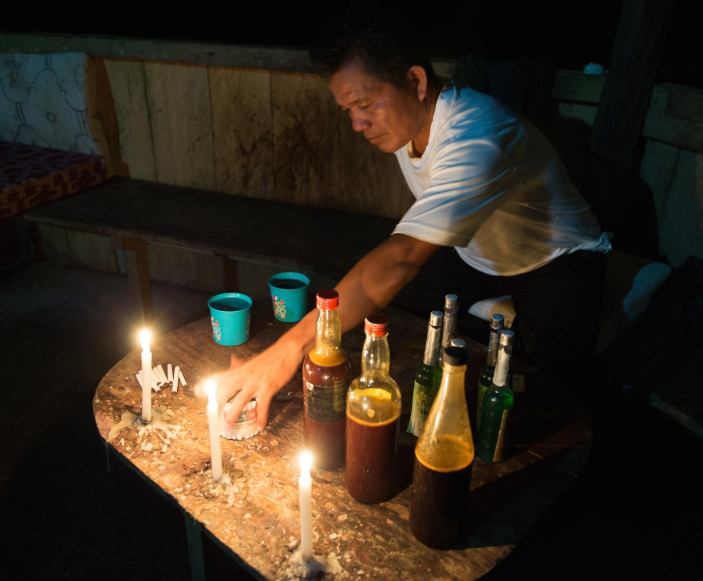 Ayahuasca is known for its intense abortive effects which often cause drinkers to vomit. Shamans call this 'getting well' because the body is begin purged of negative energy and traumas.
