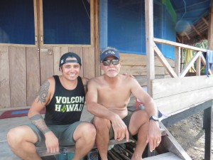 Photo: Donald Bumanglag (left) and his father (right).  Courtesy of Donald Bumanglag.