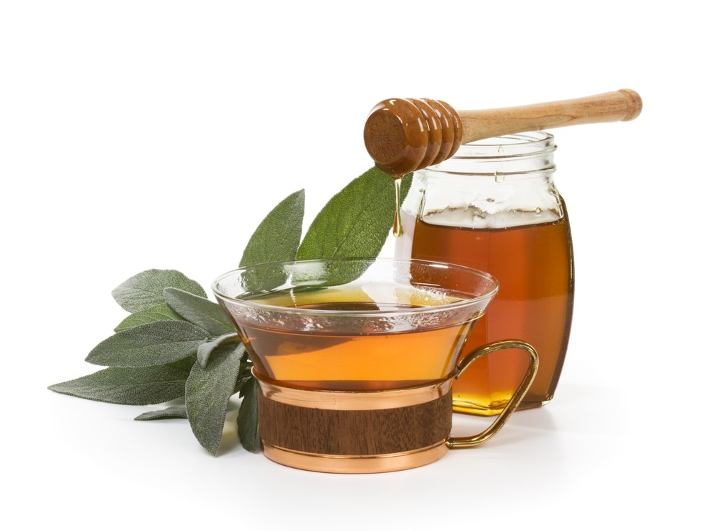 Sage tea is great for drying the excess mucus associated with colds and flus. Via: Irina Fischer | Shutterstock.