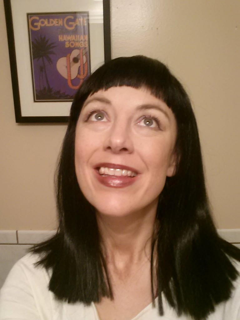 """Channeling an Elizabeth Taylor """"Cleopatra"""" look with one of my wigs."""