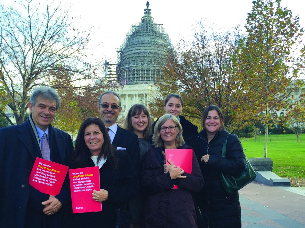 Photo: Chris Conrad and friends lobby for the legalization of cannabis in Washington, D.C.